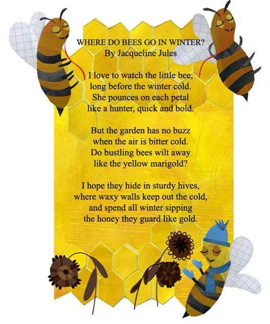Bee Poem Teaching Loves Honeybee Theme Unit Bee Poem