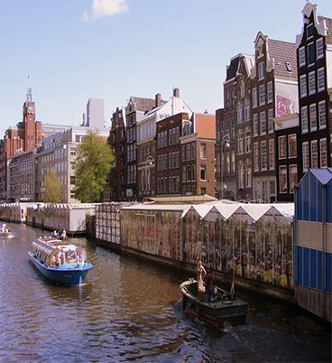 The only floating flower market in the world named Bloemenmarkt in Amsterdam.You must visit .