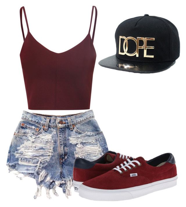 """"""""""" by animegirllover ❤ liked on Polyvore featuring Glamorous and Vans"""