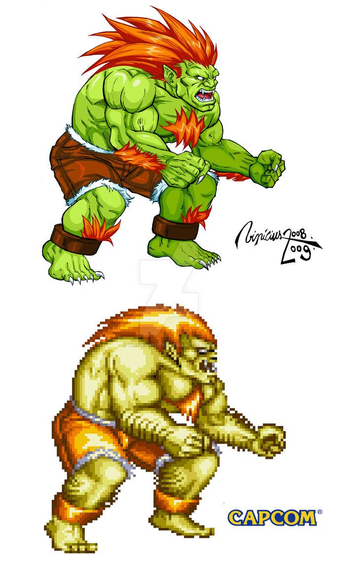 BLANKA: STREET FIGHTER II by viniciusmt2007 on DeviantArt  https://www.facebook.com/Gamers-Interest-188181998317382/