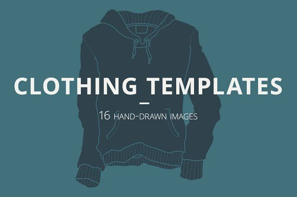 16 Clothing Templates by Youhhou on @creativemarket