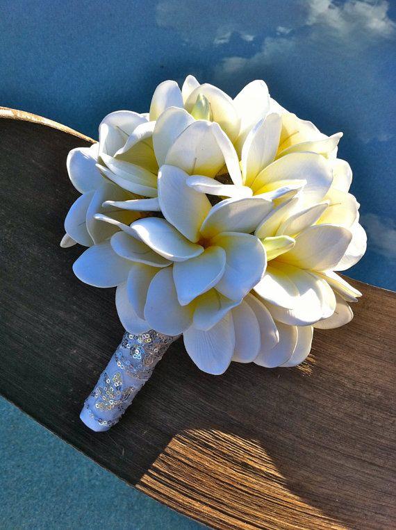 Plumeria Frangipani Bouquet by flowersbythevase on Etsy