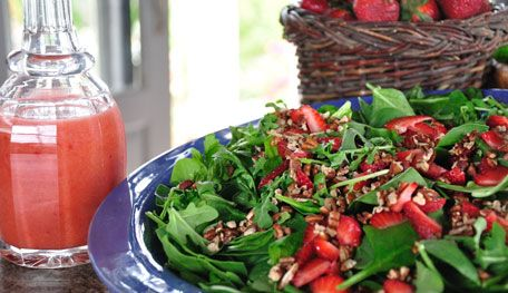Spinach And Strawberry Salad - Food & Recipes - P. Allen Smith Garden Home - MasterCook