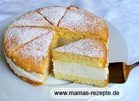 Kleine Käse- Sahnetorte | Mamas Rezepte - mit Bild und Kalorienangaben