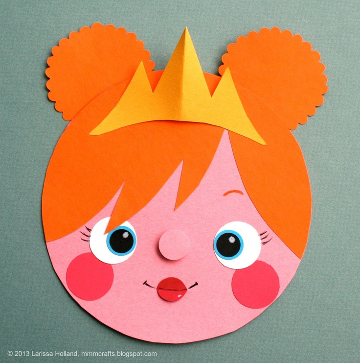mmmcrafts: make a quick princess card/gift tag (or a bear, or a puppy, etc...)