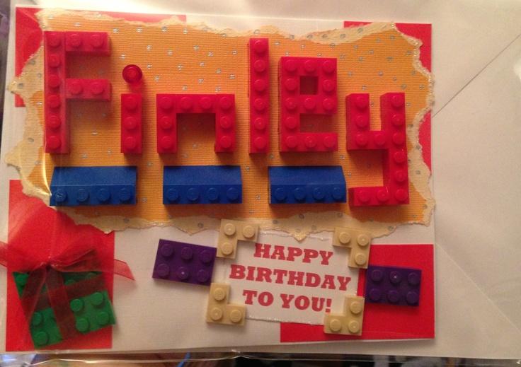 Lego birthday card!