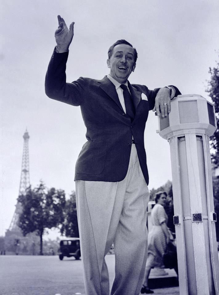Walt Disney visits Paris!
