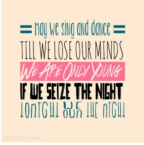 Songs with tonight is the night in the lyrics