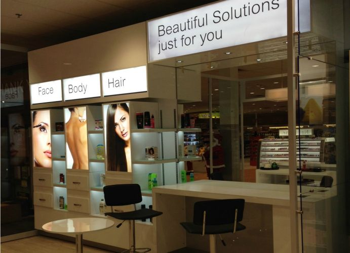 Adglow beauty store display
