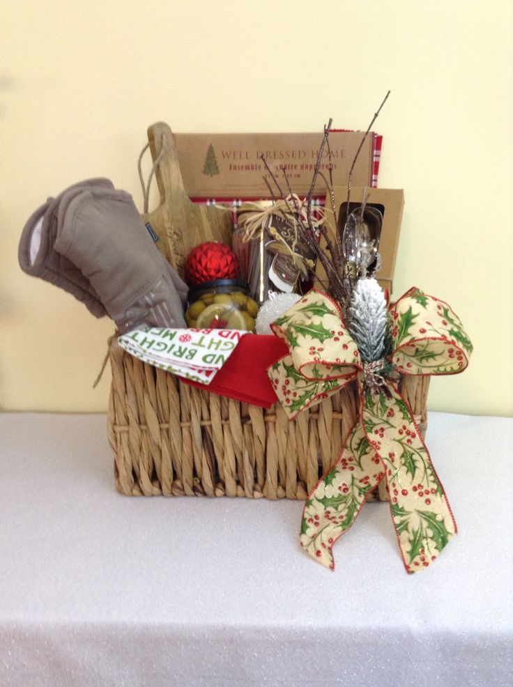 Custom Christmas gift basket created and sold by Ambiance Innovative Event Planning  www.planwithambiance.com