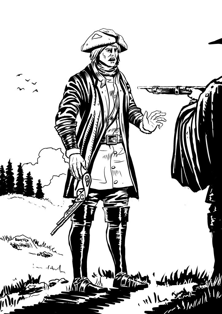 """a """"fanart"""" image made for a novel about a Swedish soldier from the early 1700. Did this to practise the style for a real commission."""