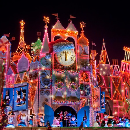 It's a Small World~~ Disneyland, CA. I love the holiday lights, if I remember correctly there's a little show to :)