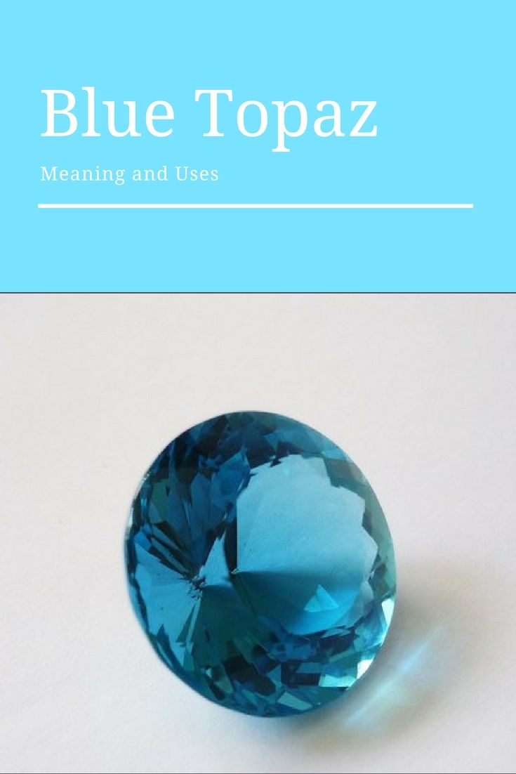Topaz is the birthstone of December, and has become a symbol of love and affection. It also can help with writer's block. -- Blue Topaz Meaning and Uses