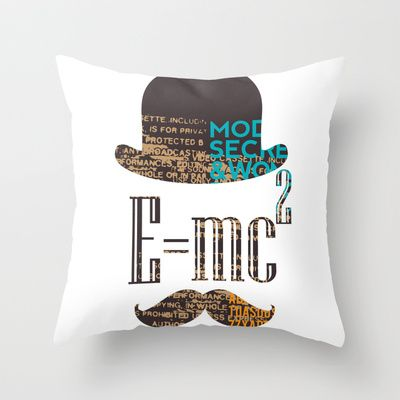 E=mc2 Throw Pillow by BerkKIZILAY - $20.00