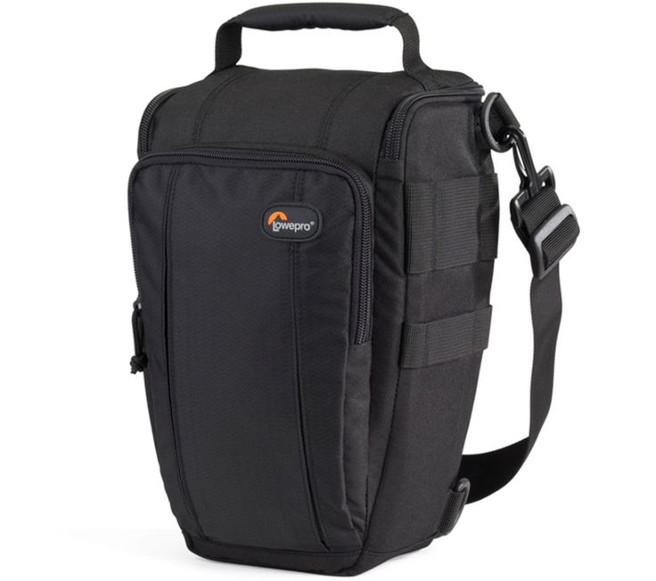 LOWEPRO  Toploader 55 AW II DSLR Camera Bag - Black, Black Price: £ 27.99 The Lowepro Toploader 55 AW II DSLR Camera Bag is a durable and spacious camera bag for your DSLR camera with attached lens, as well as other essentials. Boasting an All Weather Cover, you can be sure that your photographic equipment will be kept dry and protected from the elements. The Toploader 55 features an external...