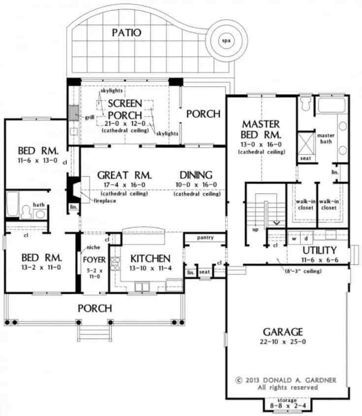 Garage Plans Blueprints 26 X 36 3 Car Traditional: 3 Bedroom Ranch, 2 Bath, 2-car Attached Garage, Covered