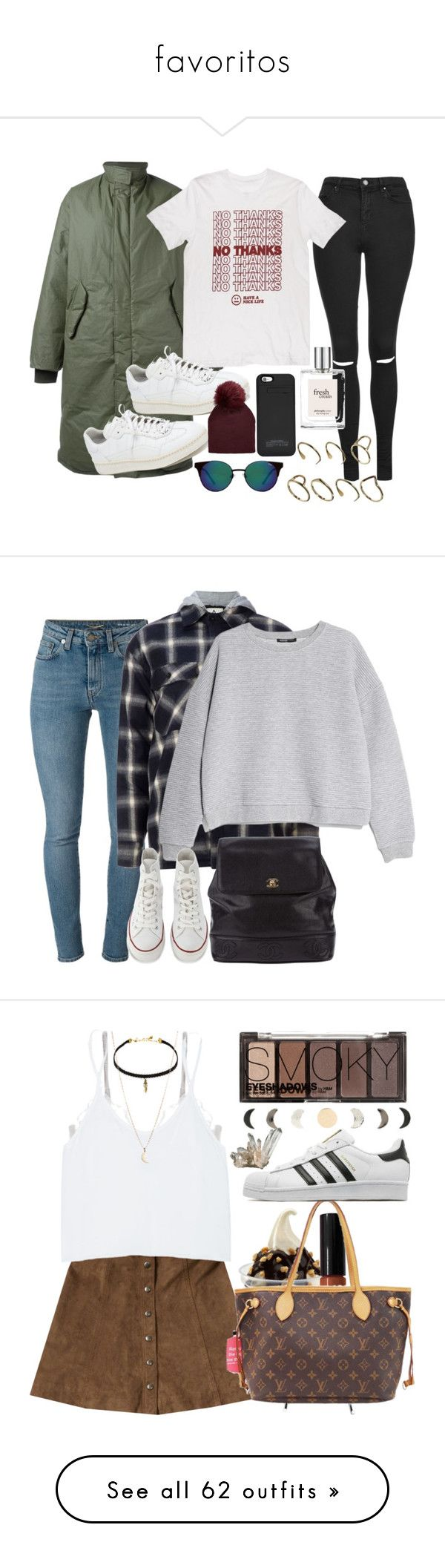 """""""favoritos"""" by andreamixd ❤ liked on Polyvore featuring adidas Originals, Topshop, Quay, ASOS, Alexander Wang, philosophy, Yves Saint Laurent, UNIF, MANGO and Converse"""