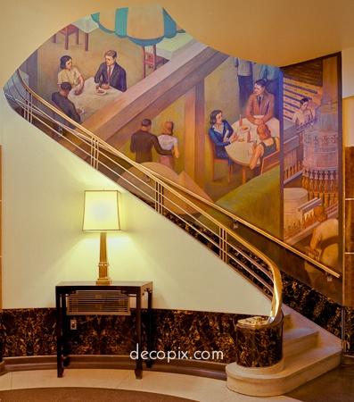 130 best mural art images on pinterest murals abstract for Art nouveau mural