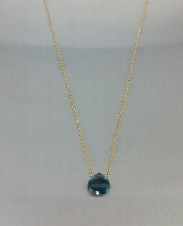 London Blue Topaz  Necklace (8mm)