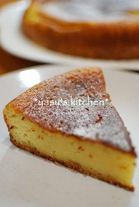 ホットケーキミックスで簡単♪チーズケーキ