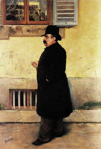 Corcos Vittorio Matteo  Ritratto di Yorick, 1889      Materiali     olio su tela      Misure     199  x  138  cm