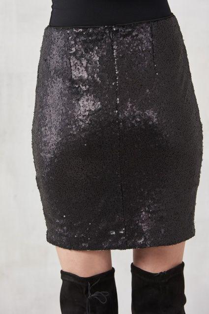Siyah Mini Payet Etek MLWSS16BB3611