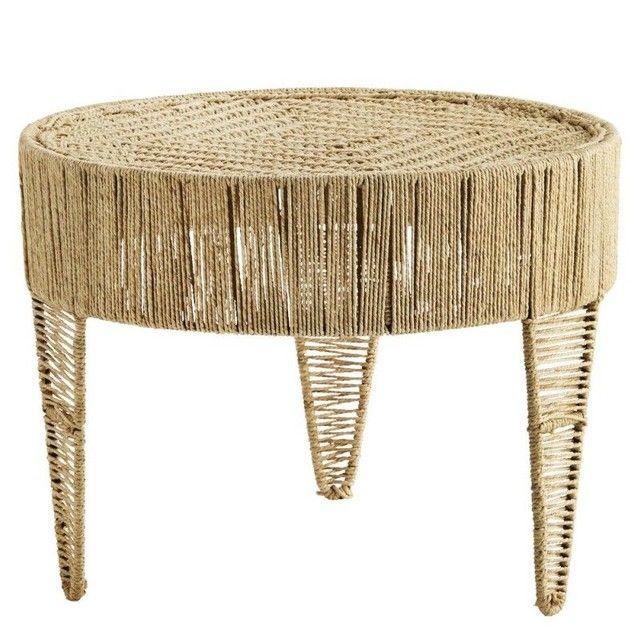 Table Basse Ronde Jute Naturel Style Boheme Beige Madam Stoltz La Redoute Table Basse Table Basse Ronde Table Basse Verre