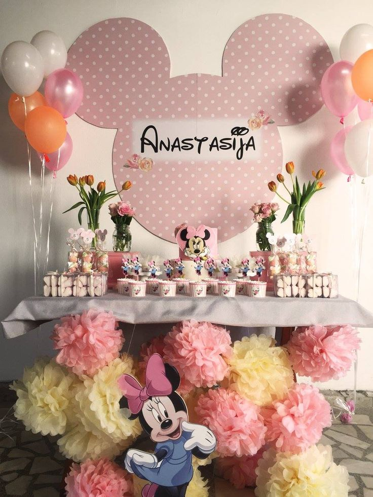 Minnie Mouse Birthday Themed Party Minnie Mouse Cake And