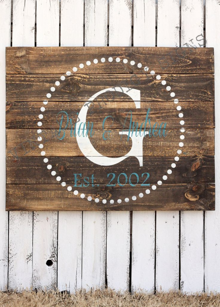 Custom Wood Sign, Established Wood Sign, Wedding, Bridal shower, Personalized Family Name sign, Barn wood sign,reclaimed wood sign by VintageProdigySigns on Etsy https://www.etsy.com/listing/179926577/custom-wood-sign-established-wood-sign