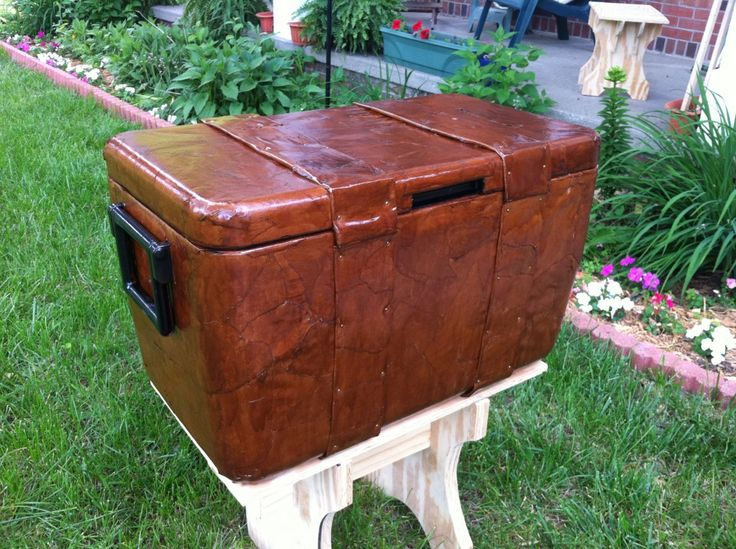 Make a cooler look like a chest without building a trunk around it.
