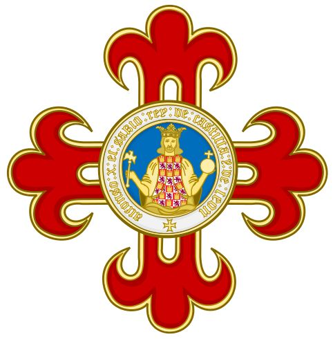 Insignia, Grand Cross and Star of the Civil Order of Alfonso X, the Wise.svg