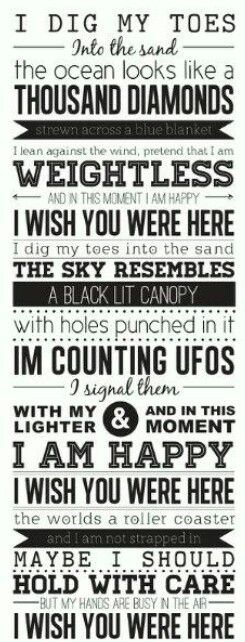 Lyrics of 'wish you were here' by Incubus