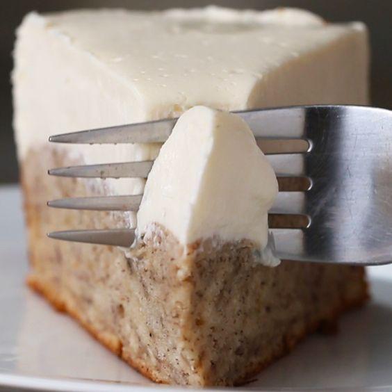 Bread Recipe | Banana Bread Bottom Cheesecake