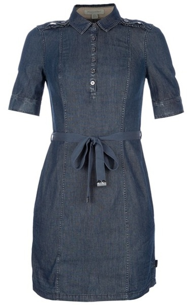 Burberry Brit Denim Dress - Lyst