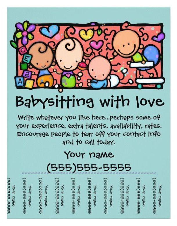 Best 20+ Babysitting Flyers ideas on Pinterest | Babysitting jobs ...