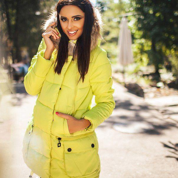 Зимняя куртка пальто Marta желтая