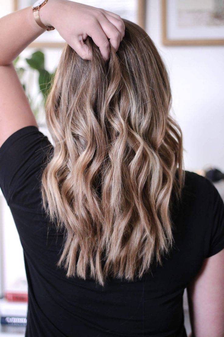 Beach waves with a curling iron curls for medium length