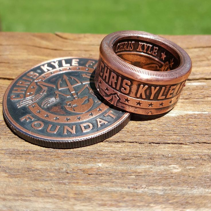 Chris Kyle Frog Foundation American Sniper Ring Made from a 1 oz Chris Kyle Frog Foundation copper bullion round. Available in sizes 8-15. Purchase comes with ring only.