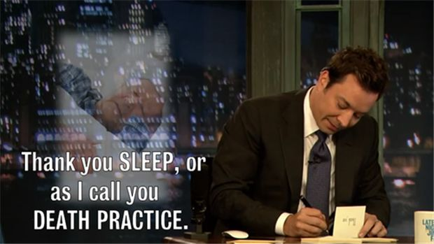 The Best Of Jimmy Fallon Thank You Notes - 16 Pics