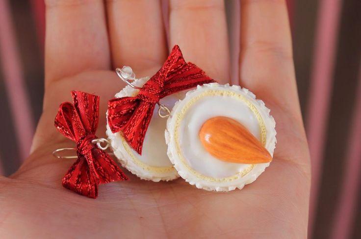 Raffaello Coconut Candy Earrings / Handmade Polymer Clay Earrings #Handmade #DropDangle