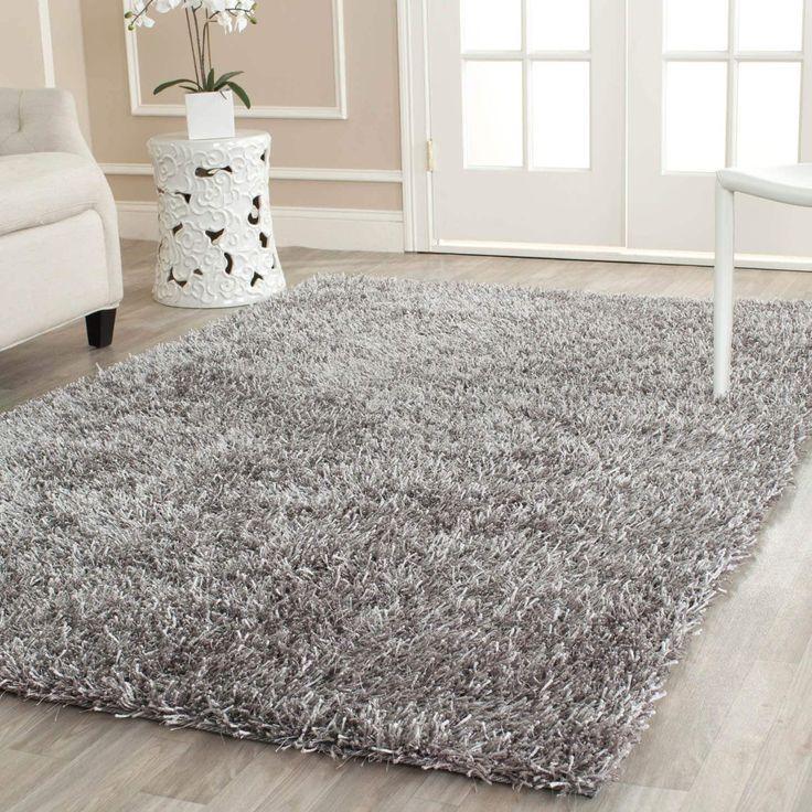 safavieh handmade new orleans shag grey textured large area rug 8u00276 x 12