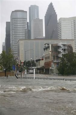Hurricane Ike aftermath Houston Texas.