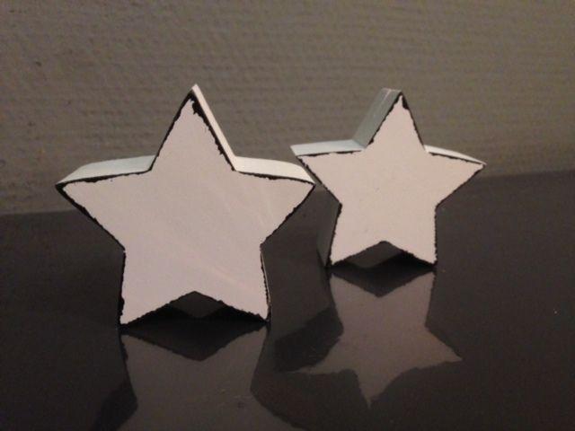houten ster als kaartjes houder