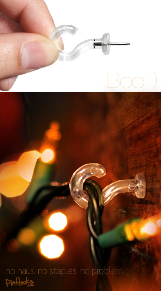 hang christmas lights wout nails or staples cute little wall hooks are these pushpin hooks
