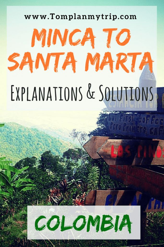 Minca near Santa Marta is a peaceful town in the Sierra Nevada. It's only 40 min away from Santa Marta and it would be a shame to not travel there if you have some extra days on the Caribbean Coast. Read the explanation to learn how to get to Minca from Santa Marta