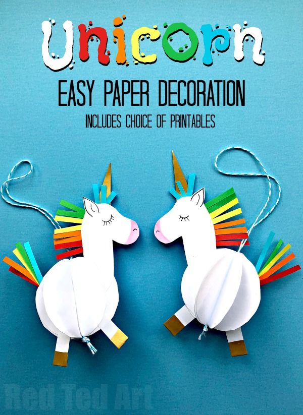From Simple Paper To Unicorn Paper Crafts For Kids Unicorn