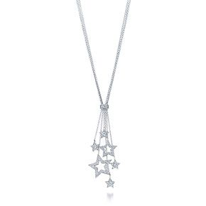 Tiffany & Co. | Item | Tiffany Stars multi-drop pendant of diamonds in platinum. | tried this on once...forever in love