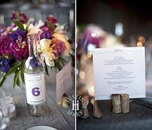 Great idea for incorporating a wine theme into our wedding