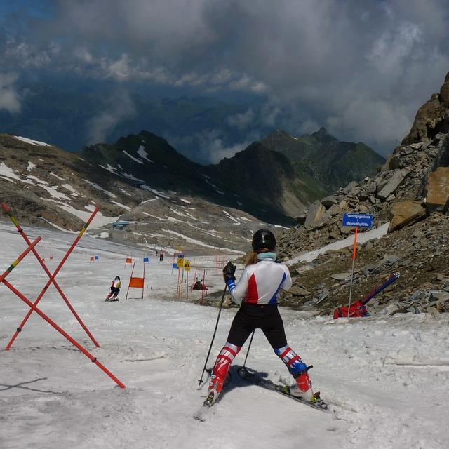 Downhill Ski Slalom