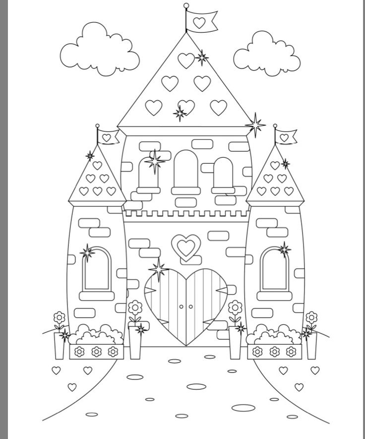 coloring pages of castles - photo#22